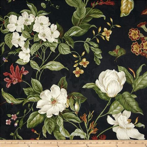 waverly garden images black discount designer fabric fabric com