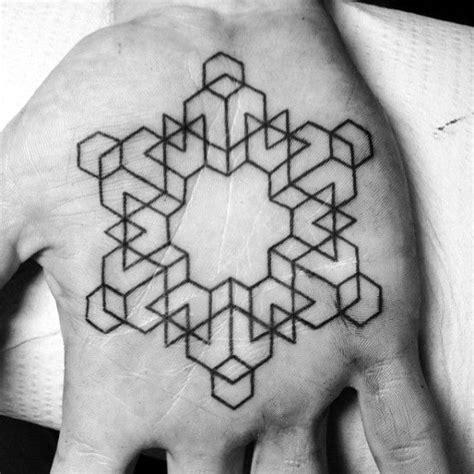geometric tattoo palm 40 geometric hand tattoos for men pattern design ideas