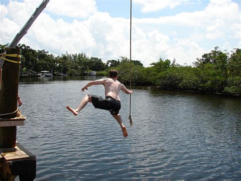swinging on a rope how a lost rope swing captures everything wrong with water