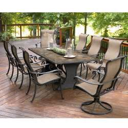 Outdoor Patio Table Set Agio International Panorama 9 Pc Patio Dining Set Shop