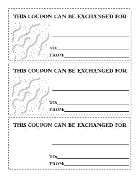 coupon template free word coupons template word