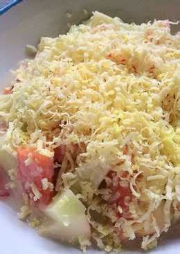 salad buah keju  resep cookpad