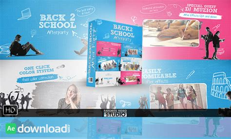 template after effects party free videohive back 2 school after party free after effects