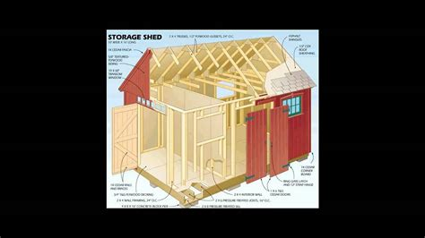 storage shed plans youtube
