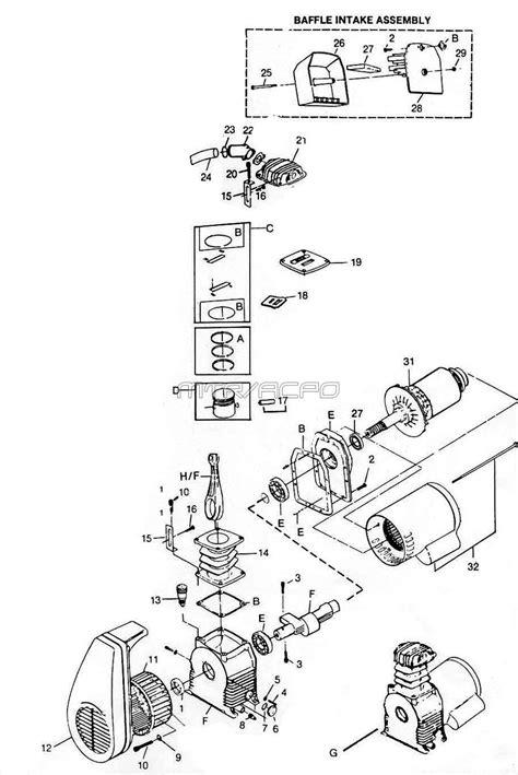 hl hlaj campbell hausfeld air compressor parts