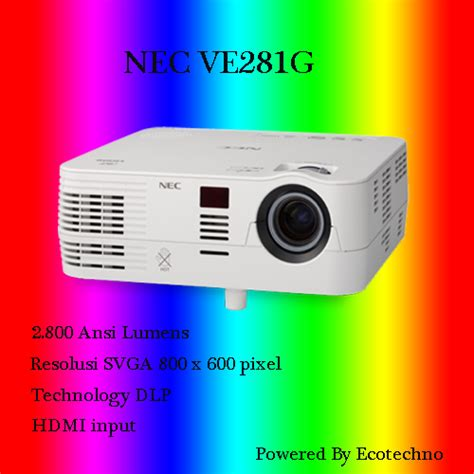 Projector Nec Ve281g lcd projector nec garansi resmi