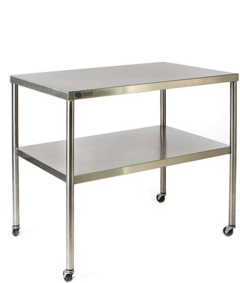 24 X 36 Table by Fhc Stainless Steel Instrument Table 24 X 36 Instrument