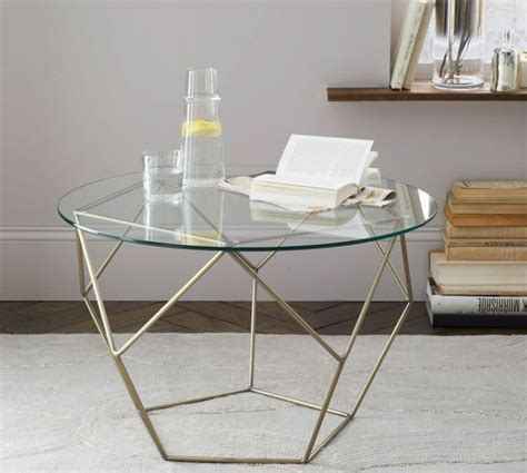 Glass Side Tables For Living Room by Glass Side Tables For Living Room With Gold Painted Table