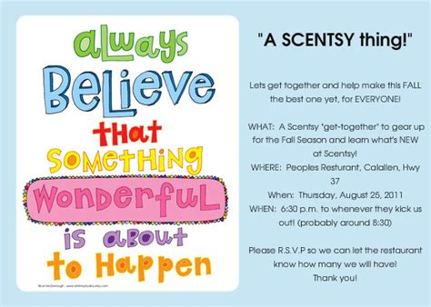scentsy party invitation quotes