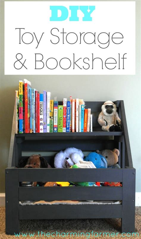 diy storage and bookshelf project