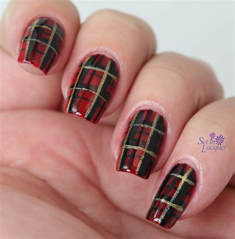 Plaid Nail Designs or any day plaid nail set in lacquer