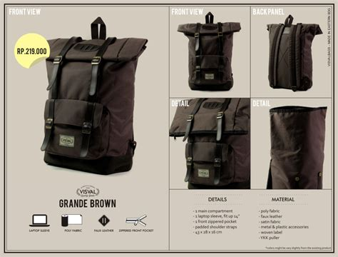 Tas Bonjour Jean Brown welcome visval bags be cool chic and casual everywhere