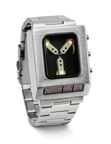flux capacitor date back to the future flux capacitor wristwatch from thinkgeek