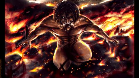 Eren Titan At Attack On Titan attack on titan eren 13 desktop background animewp