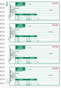 crb 120 wire bound cash receipt book