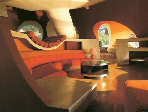 retro home interiors the palais bulles of pierre cardin by architect antti