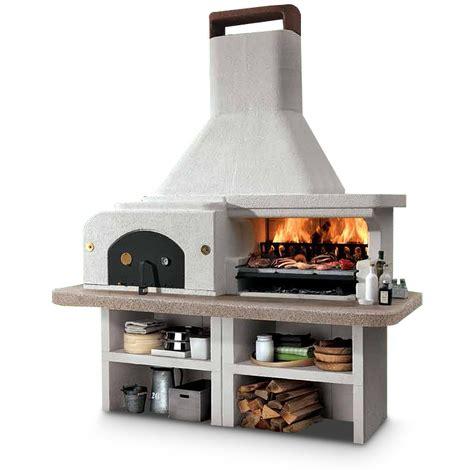 barbecue a legna da giardino barbecue da giardino gargano palazzetti 204x95x266 cm a