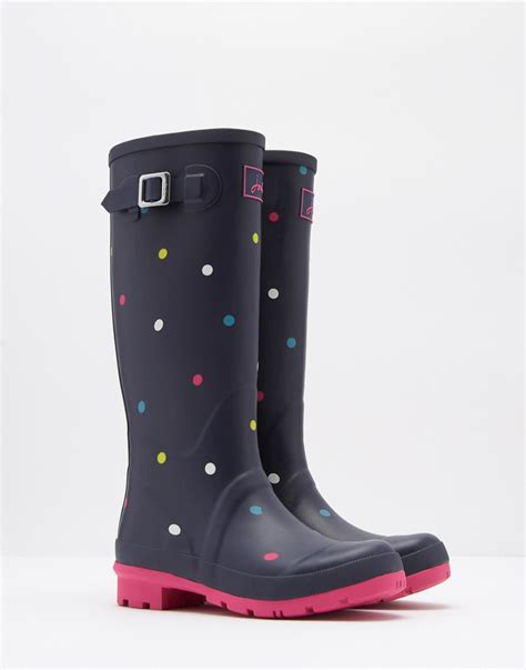 wellies boots joules design print waterproof fashion festival