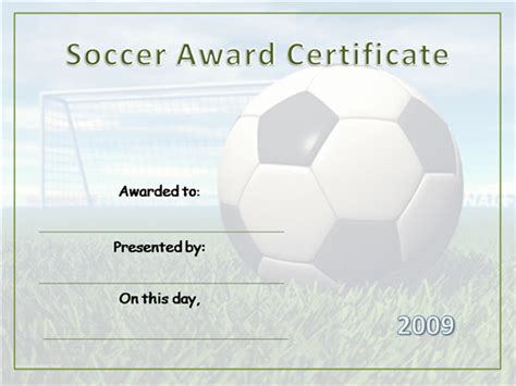 soccer certificates templates football certificate template www pixshark images