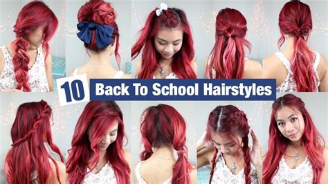easy and quick hairstyles for school for short hair 10 back to school hairstyles l quick easy hairstyles for