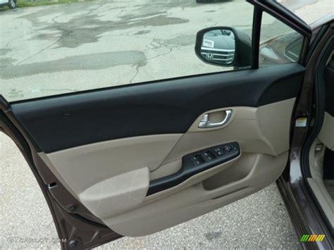 2012 honda civic ex sedan beige door panel photo 51885692