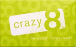 crazy 8 gift card discount 4 10 off - Crazy 8 Gift Card