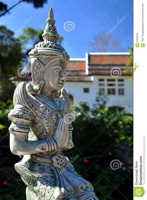 thai  statue stock image image  person outdore
