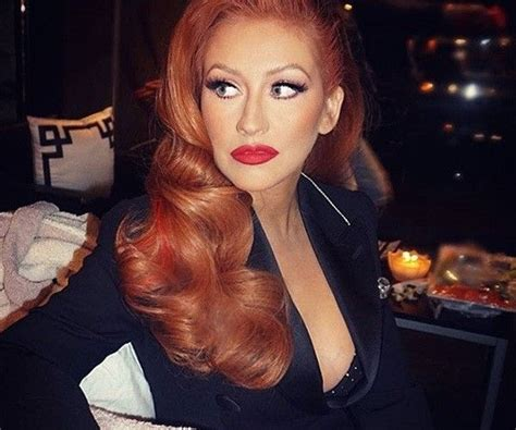 ginger hair color on latinos top 64 ideas about christina aguilera on pinterest
