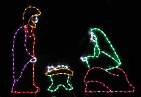 led jesus decoration 3pc nativity set led