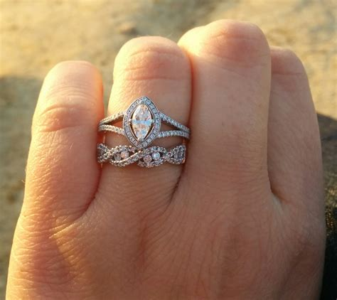 Wedding Rings Infinity Band by Infinity Wedding Band With Engagement Ring