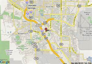 map of colorado springs days inn colorado springs