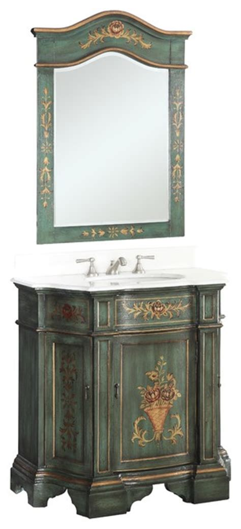 hand painted bathroom cabinets 35 quot hand painted dark green crossfield bathroom sink