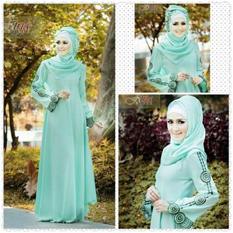 Gamis Amima Mily Dress Minty Baju Gamis Wanita Busana Muslim Baju arabia hijau mint baju muslim gamis modern
