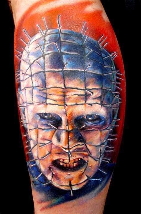 pinhead tattoo colors from hellraiser horror