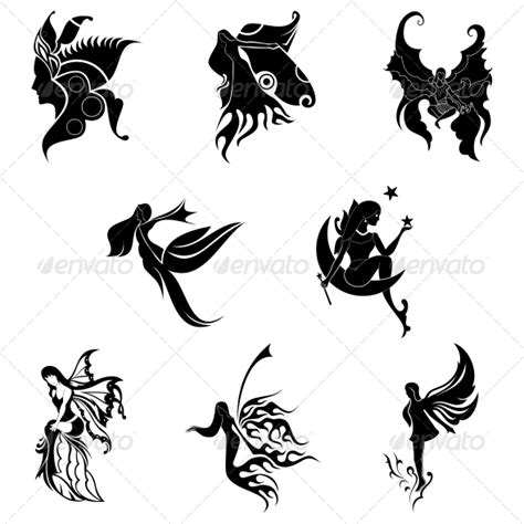 tribal angel tattoo designs stock vector graphicriver tribal abstract designs
