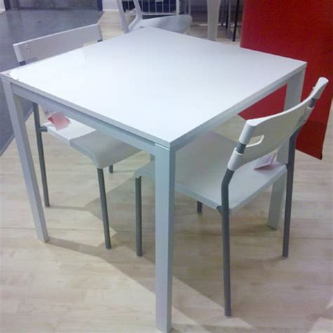 ikea table and 2 chairs set white dining kitchen modern