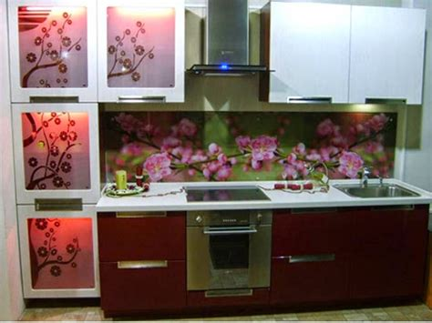 flower wallpaper kitchen home decor stunning kitchen cabinets with beautiful flowers