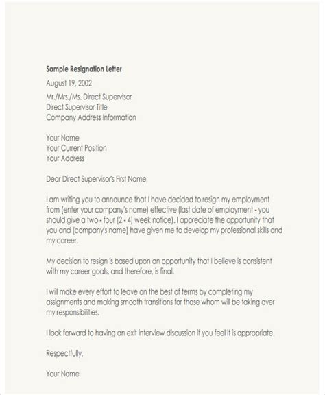 Regret Letter Template Doc How Should A Resignation Letter Look Resignation Letter Sles Notice To Help