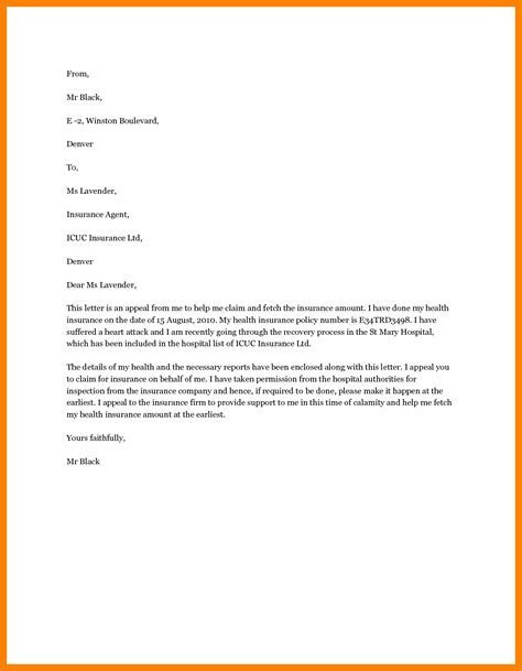 Appeal Letter Template Employment 4 Exle Appeal Letter Resumed