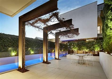 steel pergola designs cantilevered steel pergola alfresco terrace melbourne modern home we