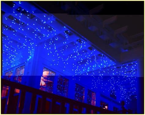 blue outdoor icicle lights icicle lights on outdoor trees home design ideas