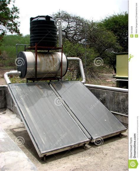 solar panel stock tank heater solar heater royalty free stock photos image 5612828
