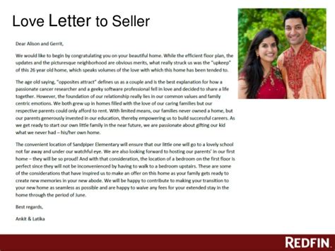 Offer Letter To Seller Burlingame Offer 6 17