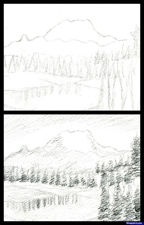 how to draw a realistic landscape draw realistic