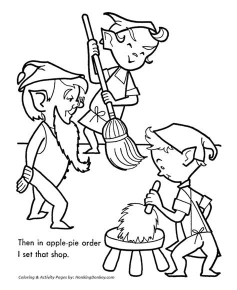 christmas coloring pages santa s workshop santa s helpers coloring pages santa s helpers clean the