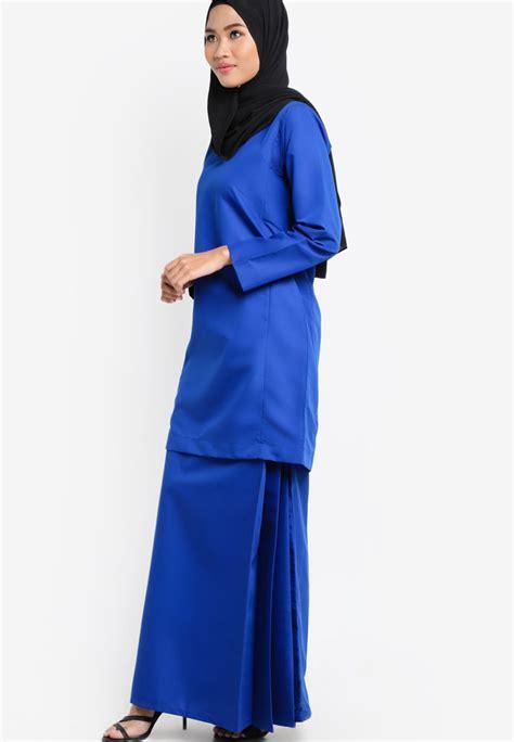 Baju Kurung Kedah Royal Blue baju kurung qasidah royal blue aa4070bk amar amran boutique