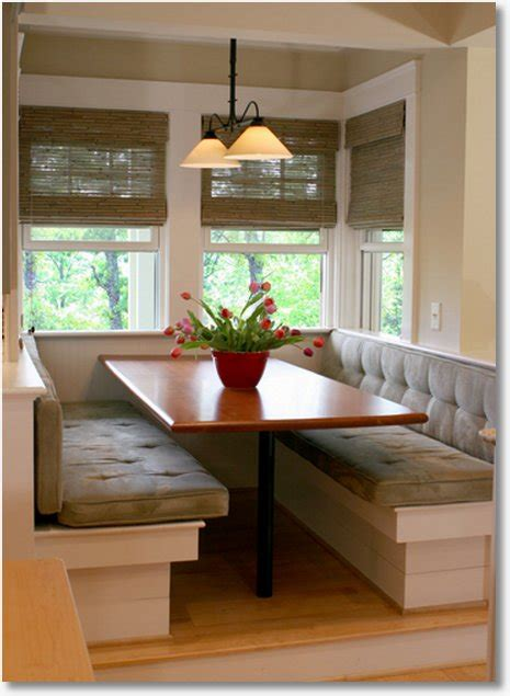 Kitchen Table Booth Built In Kitchen Seating Modern World Furnishing Designer