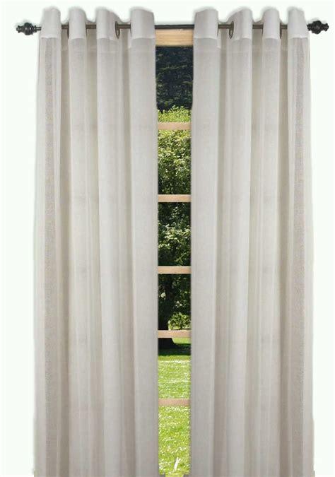 Grommet Curtains With Sheers Bal Harbour Semi Sheer Grommet Curtain Panel