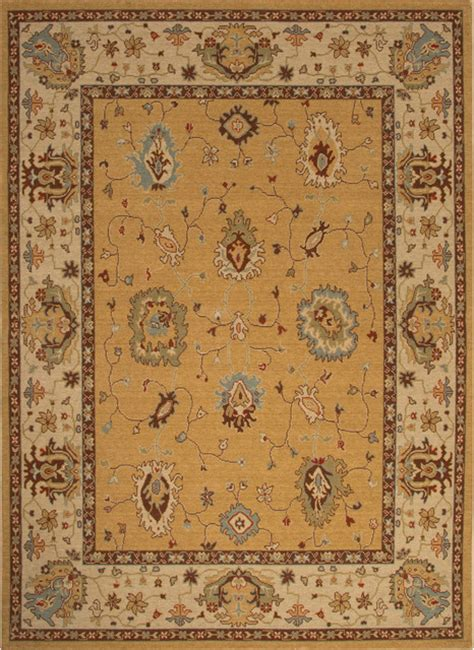 rug 2x3 jaipur classic pattern wool yellow 2x3 area rug traditional area rugs by