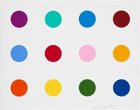 spot the different color damien hirst aste accessibili